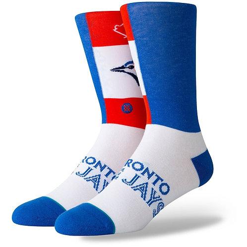 Blue Jays Pop Fly socks by Stance