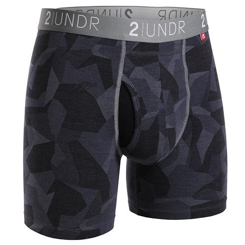 Black Camo Swing Shift Boxer Brief by 2Undr