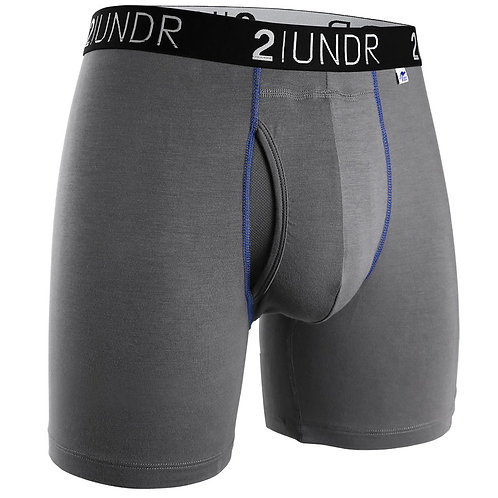 Grey/Blue Swing Shift Boxer Brief by 2Undr