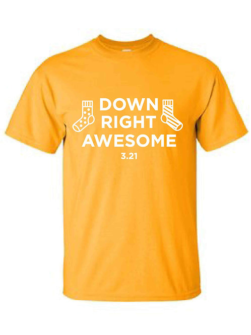 Down Right Awesome Gold T-Shirt