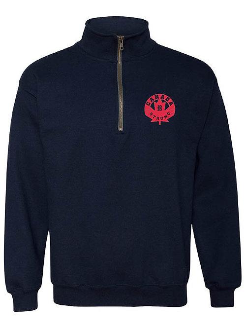 Canada Strong Quarter-Zip Hoodie (circle logo)