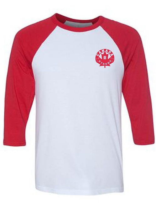 Canada Strong Circle Logo Baseball Shirt