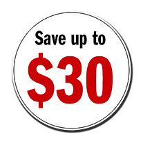 Save up to $30