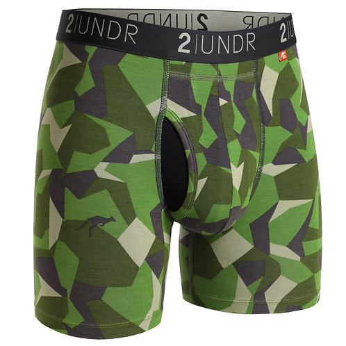 Green Camo Swing Shift Boxer Brief by 2Undr