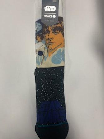 Star Wars socks (Luke skywalker on black starscape)