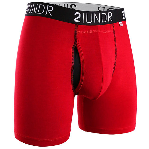 Red/Red Swing Shift Boxer Brief by 2Undr