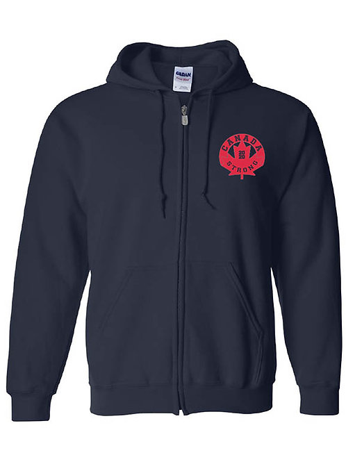 Canada Strong Full-Zip Hoodie (circle logo)