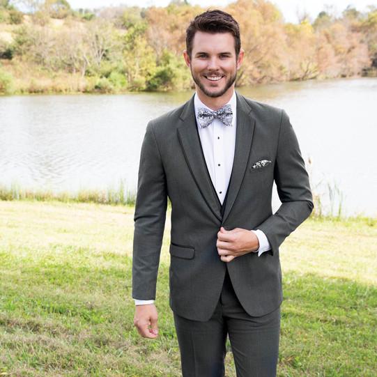 Steel Grey Tuxedo by Allure Men