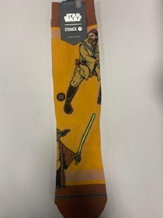 Star Wars socks (Obiwan and Yoda)
