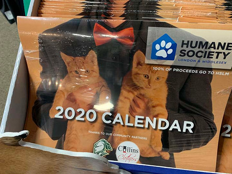 Humane Society Calendars now on sale!
