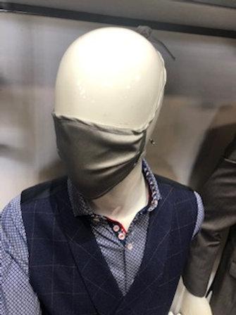 Medium Grey Solid Mask tie back with pocket