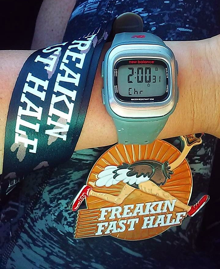 Running Freakin' Fast to the Half Marathon Finish Line