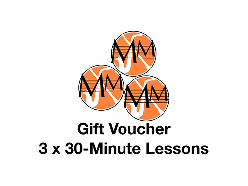 gift voucher - 3x30-minute lessons