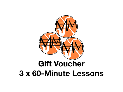 Gift voucher - 3 x 60-minute lessons