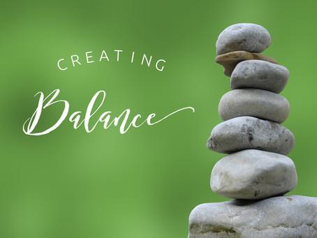 Balance in the Creative Life