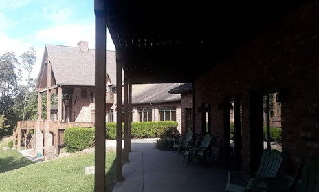 WSR - 14 - 12 Country Lake Christian Retreat Porches off New Lodge Rooms.JPG