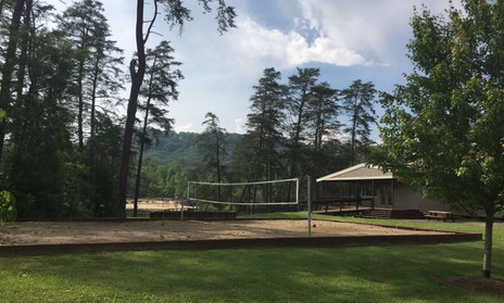 WSR - 14 - Country Lake Christian Retreat Old Lodge with Volleyball Court.JPG