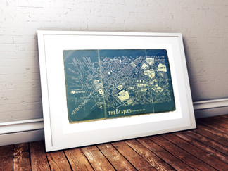 The Beatles Liverpool Blueprint Map