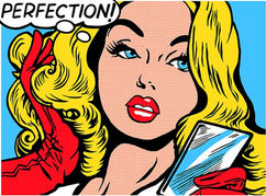 'PERFECTION' POP ART ON GLASS