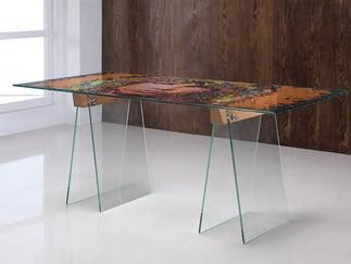 Morrison Glass Trestle Design Table