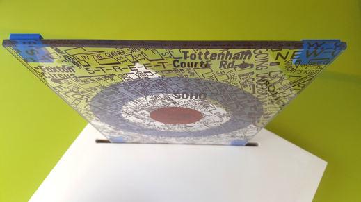 'THE JAM MAP' GLASS SAMPLE WALL ART