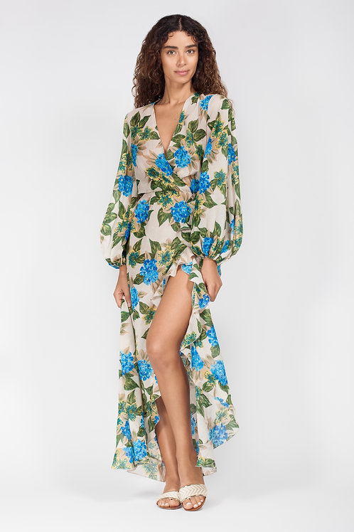 AMMINA PRINTED MAXI DRESS FLORAL