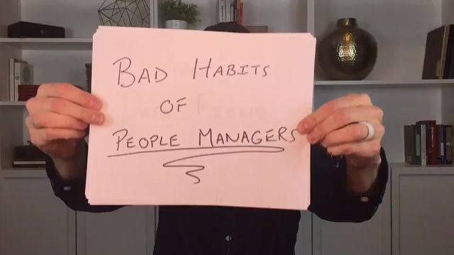 Episode 8: The Habits of Bad People Managers