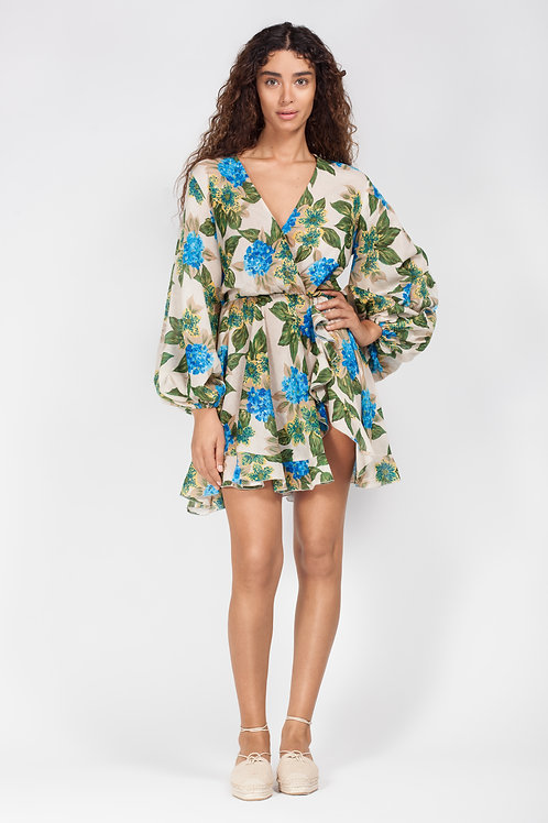 AMMINA PRINTED MINI DRESS FLORAL