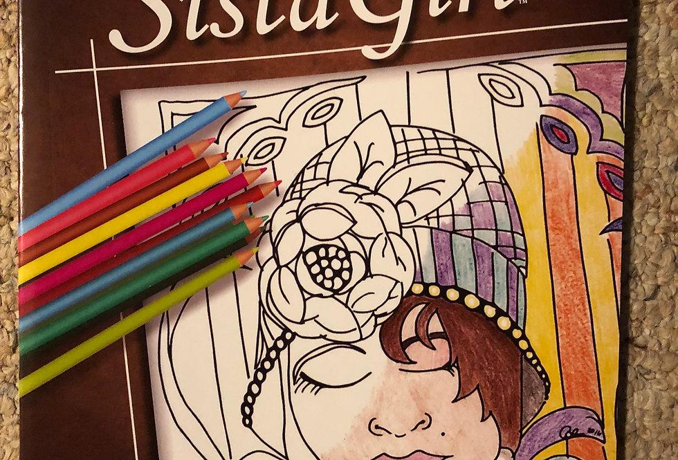Color Me Sista Girl Coloring Book