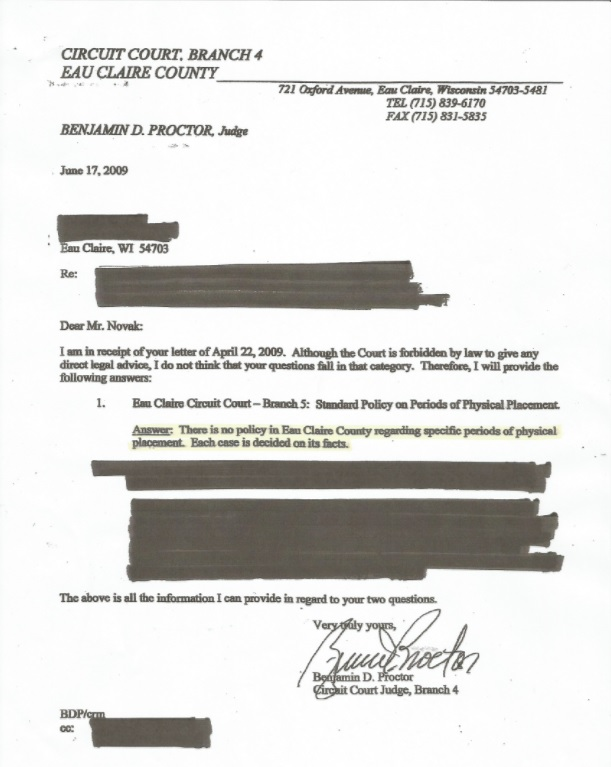 Proctor Denial Letter