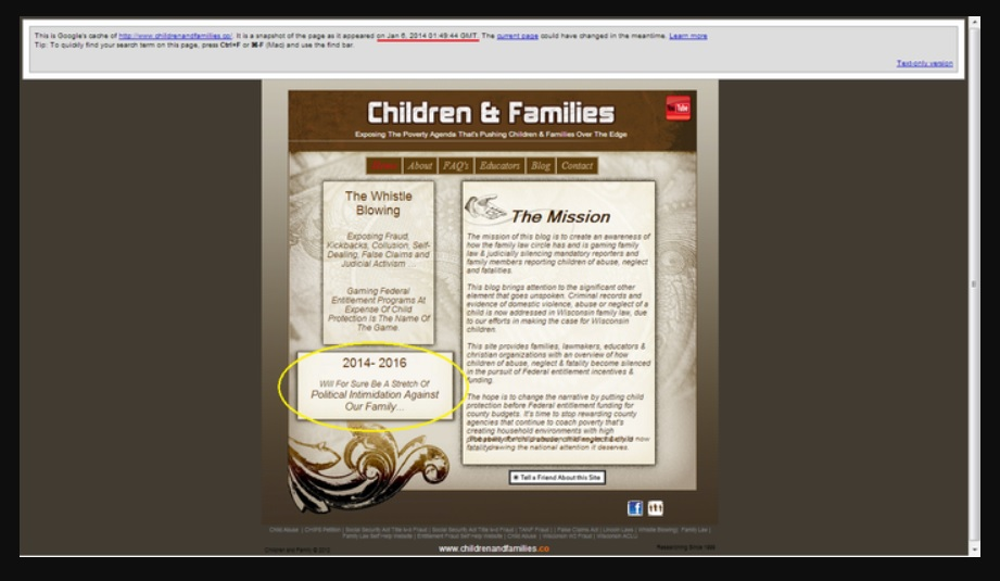 Children and Families Website On Jan 6, 2014
