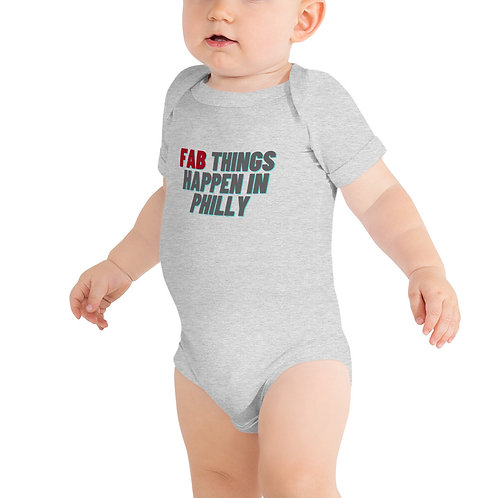 Red Fab Things Happen in Philly Infant Onsie