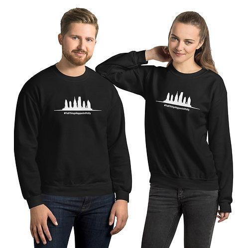 White Skyline Fab Things Happen in Philly Unisex Sweatshirt