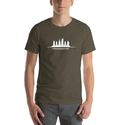 Fab Things Happen Philly Skyline White Short-Sleeve Men's T-Shirt
