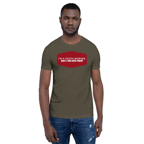 I'm a Youth Worker, What's Your Super Power Short-Sleeve Men's T-Shirt