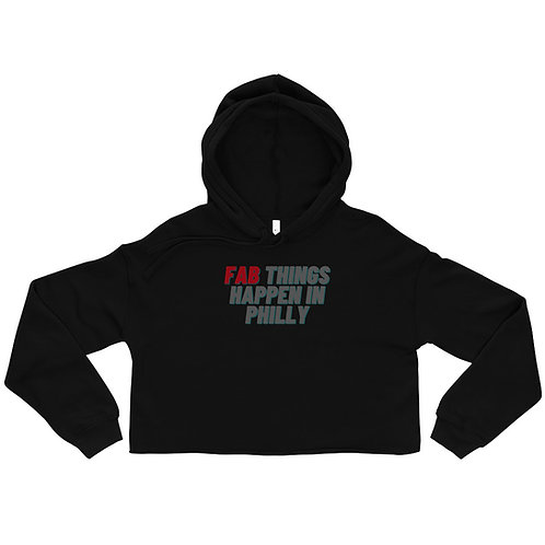 Red Fab Things Happen in Philly Women's Cropped Hoodie