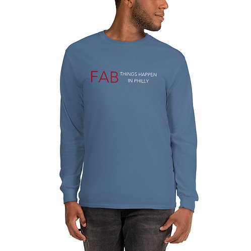 Fab Logo Fab Things Happen in Philly Men's Long Sleeve Shirt