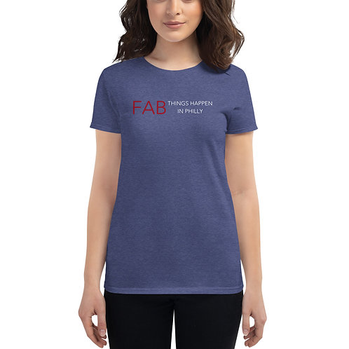 Fab Logo Fab Things Happen in Philly Women's short sleeve t-shirt