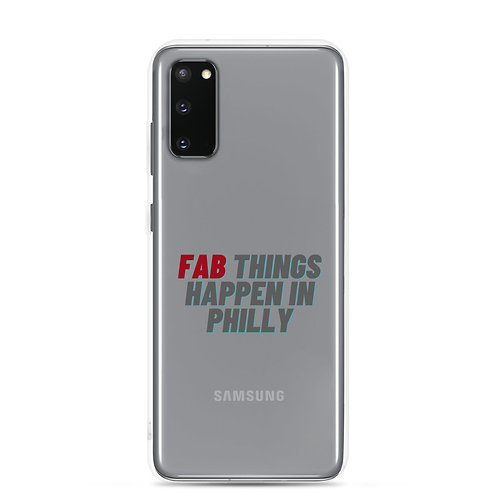 Red Fab Things Happen in Philly Samsung Case