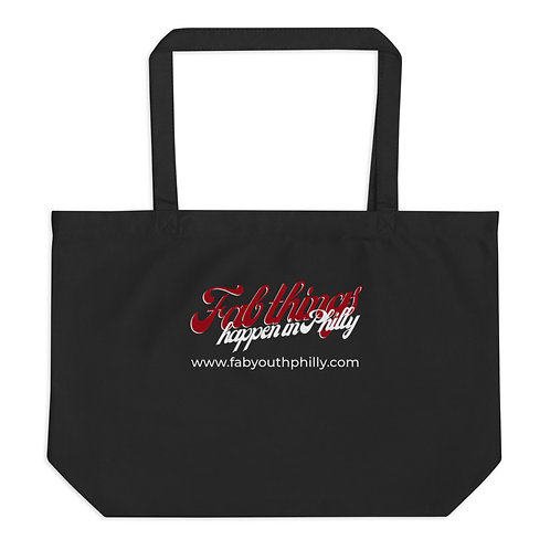 Retro Fab Things Happen in Philly Large organic tote bag