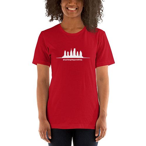Fab Things Happen in Philly White Skyline Short-Sleeve Women's T-Shirt