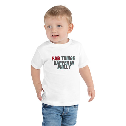 Red Fab Things Happen in Philly Toddler Short Sleeve Tee