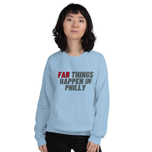 Red Fab Things Happen in Philly Unisex Sweatshirt