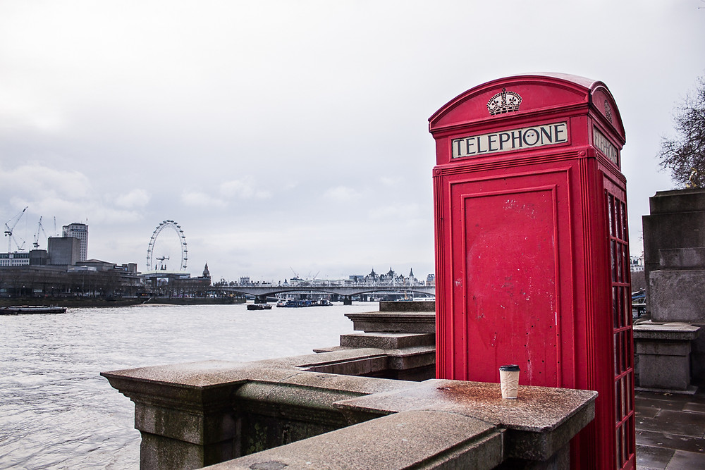 """Just your stereotypical """"red phonebooth overlooking the Thames"""" photo."""