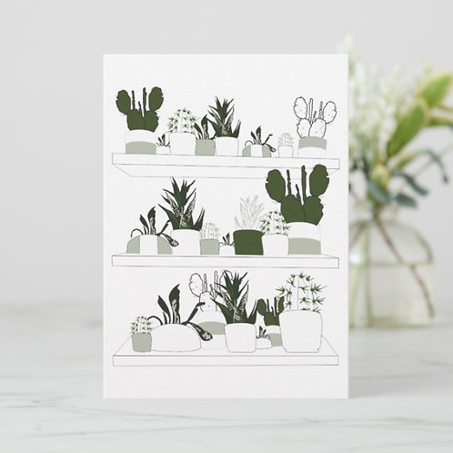 Plant Print 1 Flat Thank You Card