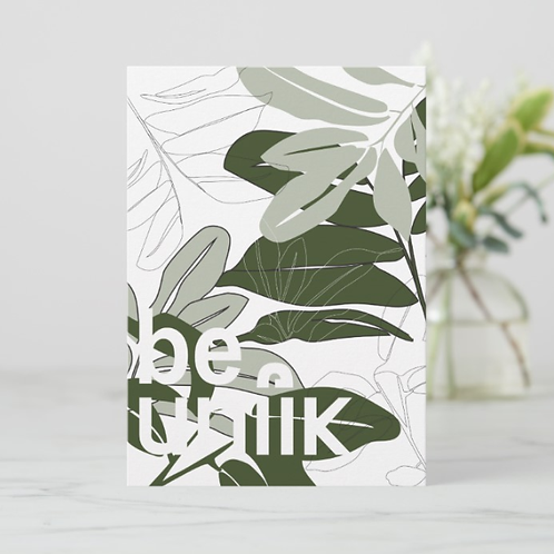 Plant Print 2 Flat Thank You Card