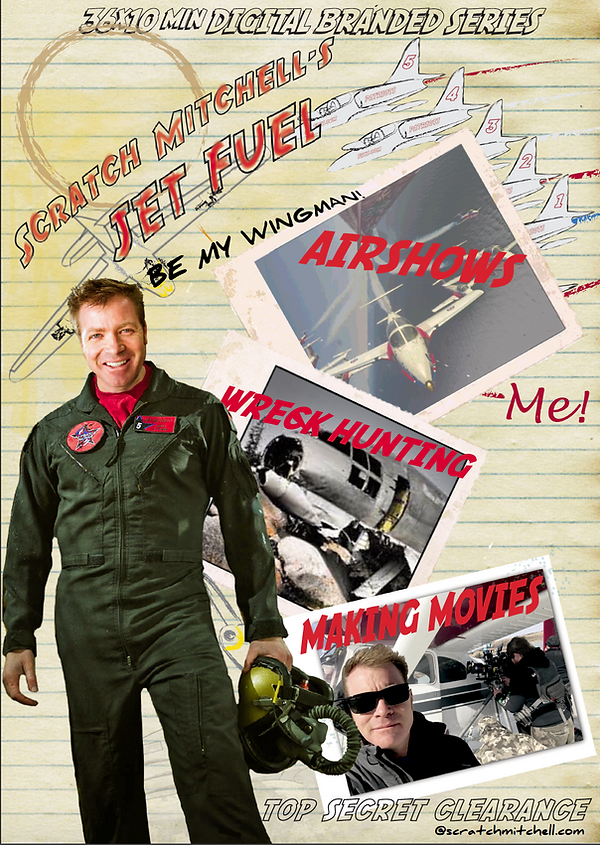 Scratch Mitchell's Jet Fuel Poster