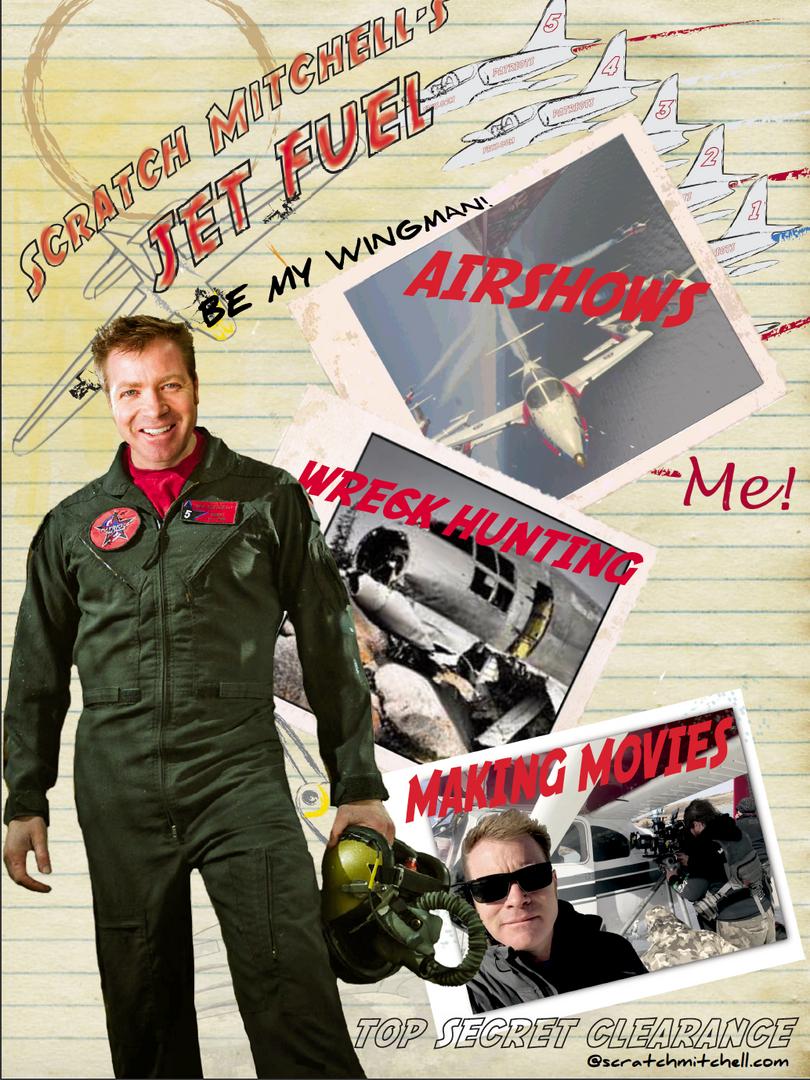 Scratch MItchell's Jet Fuel Poster