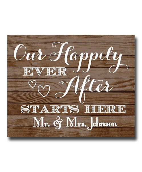 Happily ever after starts here wedding day decor