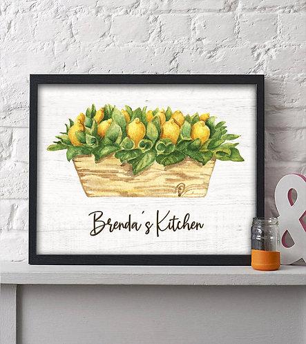 personalized rustic lemon box